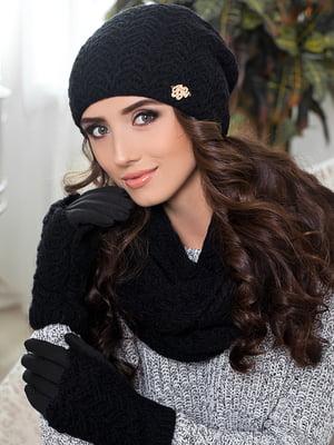 Комплект: шапка, шарф-снуд и перчатки | 5270788