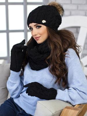 Комплект: шапка, шарф-снуд и перчатки | 5270797