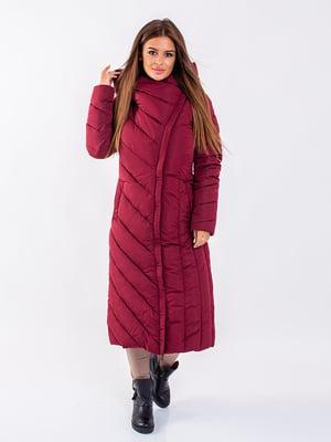 Пальто бордовое | 5271199