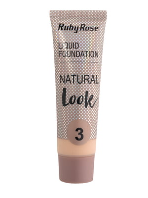 Тональная основа Natural Look - тон №3 | 5218827