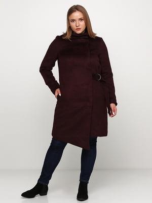 Пальто бордовое | 5272907