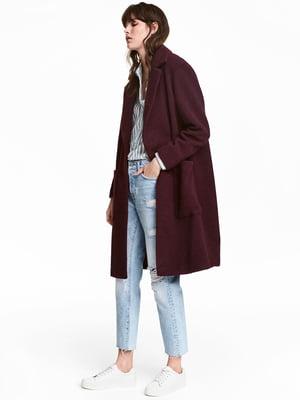 Пальто бордовое | 5273003