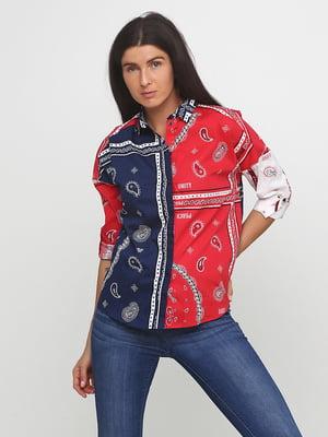 Рубашка комбинированной расцветки | 5273734