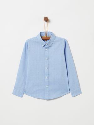 Рубашка голубая в горох | 5265200