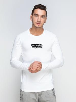 Реглан белый с принтом | 5274190