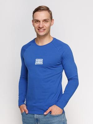 Реглан синий с принтом | 5274228