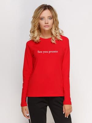Реглан красный с принтом | 5274325