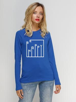 Реглан синій з принтом | 5274351