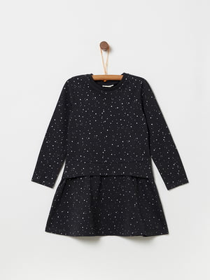 Платье черное в принт   5229827