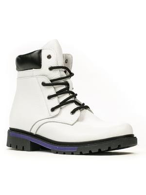 Ботинки бело-черные   5256643