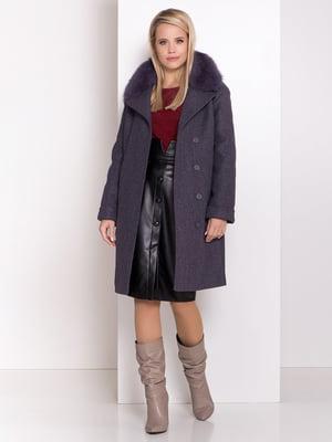 Пальто темно-фіолетове    5239081