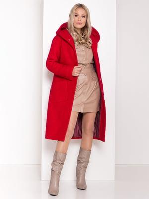 Пальто красное   5267303