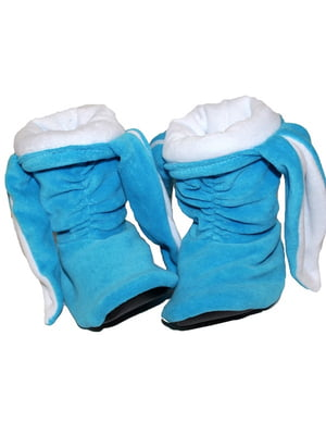 Тапочки «Зайчики» голубые с белыми ушами   5264026