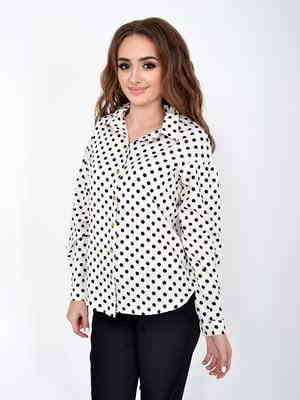 Рубашка белая в горошек | 5275311
