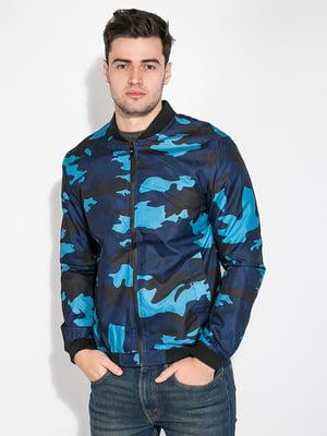 Бомбер сине-голубой в камуфляжный принт   5275817
