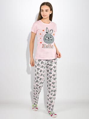 Пижама: футболка и брюки | 5275945