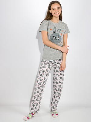 Пижама: футболка и брюки | 5275946