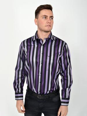 Сорочка фіолетова в смужку | 5276167