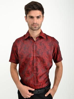 Рубашка бордовая | 5276202