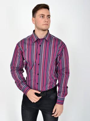 Сорочка фіолетова в смужку | 5276225