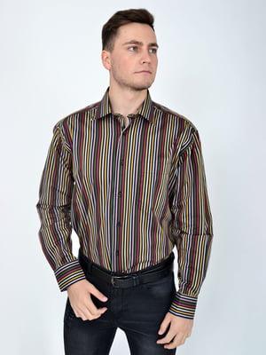 Рубашка в разноцветную полоску | 5276227