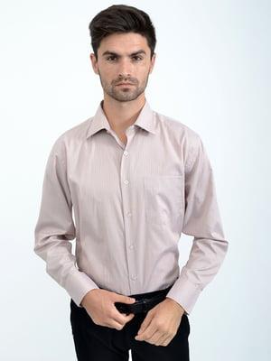 Рубашка серо-розовая в полоску | 5276238