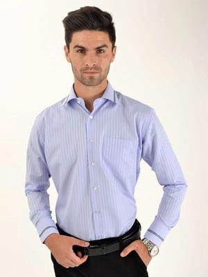 Рубашка голубая в полоску | 5276275