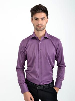 Рубашка баклажанного цвета | 5276342