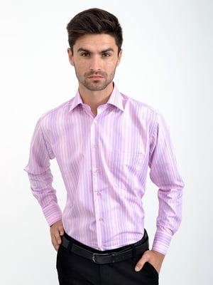 Рубашка розовая в полоску | 5276374