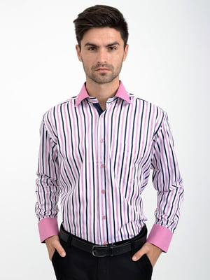 Сорочка біло-рожева | 5276389