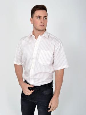 Сорочка молочного кольору в смужку | 5276455