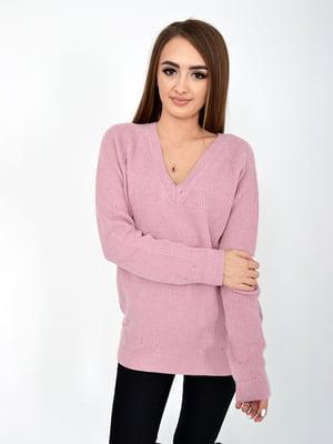 Пуловер рожевий | 5276519