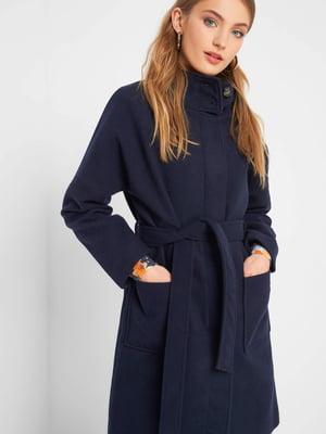 Пальто темно-синее | 5277080