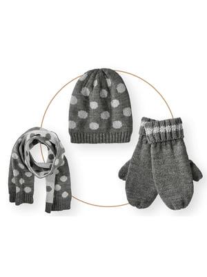 Комплект: шапка, шарф і рукавиці | 5277838