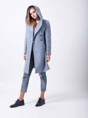 Пальто сіро-синє | 5278792