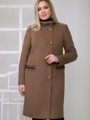 Пальто коричневе | 5278793