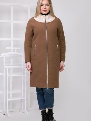 Пальто коричневое   5278794