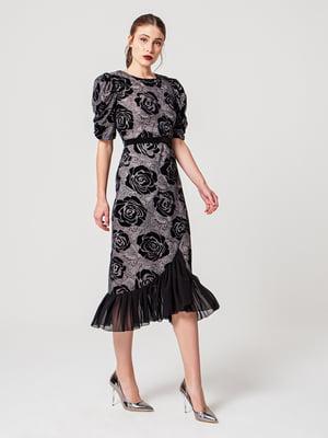 Сукня з візерунком і квітковим малюнком - BGN - 5279337