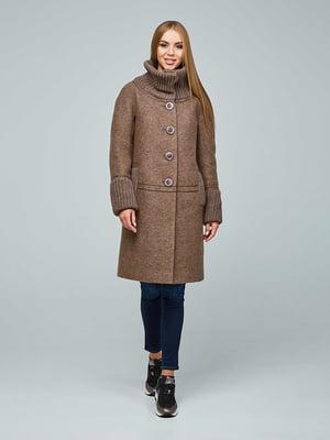 Пальто коричневе | 5212270