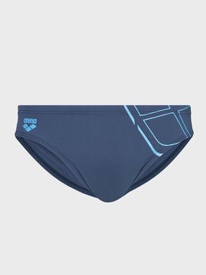 Плавки синие с принтом | 5259459