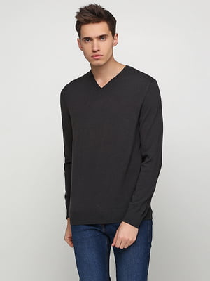 Пуловер темно-серый | 5280041