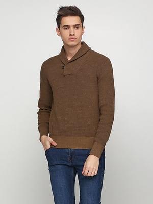 Пуловер цвета хаки | 5280051
