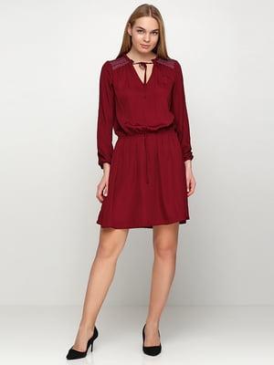 Платье бордовое | 5280126
