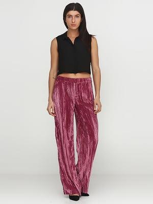 Штани темно-лілового кольору велюрові | 5280179