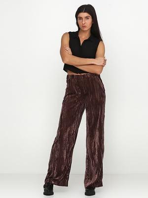 Штани коричневі велюрові | 5280181