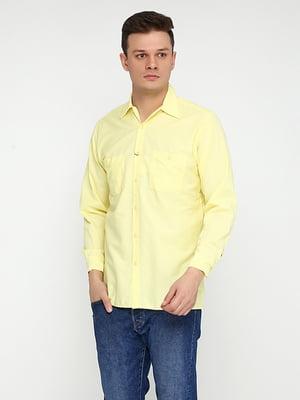 Рубашка светло-желтая | 5280221