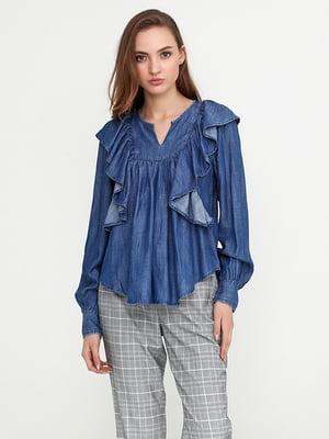 Блуза синяя джинсовая | 5280246