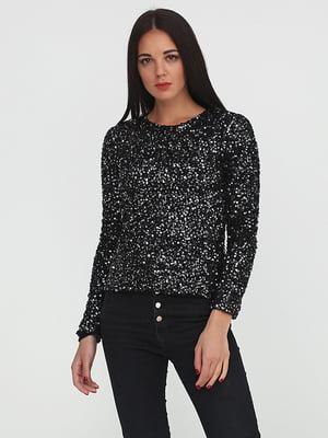 Блуза черная декорированная | 5280247