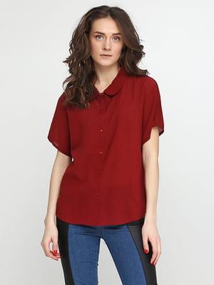 Блуза бордовая | 5280343