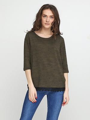 Блуза цвета хаки | 5280363